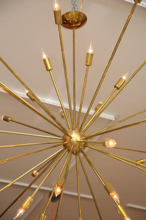 Large Brass Sputnik Light Fixture 4