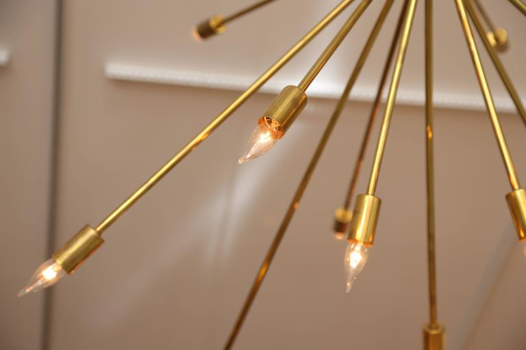 Large Brass Sputnik Light Fixture 5