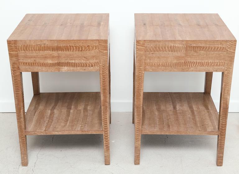 Pair of Vintage Snakeskin Side Tables 7