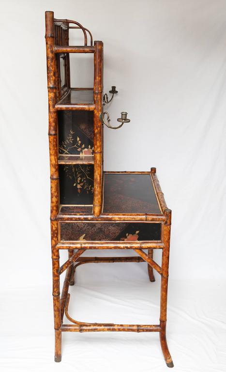 Rare 19th Century English Bamboo Desk Secretary At 1stdibs