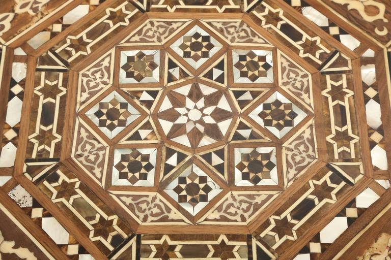 Superb Pair of Vintage Syrian Mother of Pearl Octagonal Side Tables 8