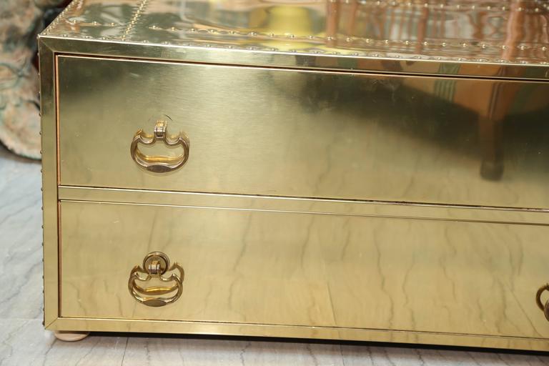 20th Century Brass Clad Chest by Sarreid