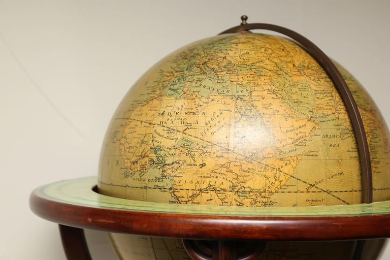 Vintage Merzbach And Falk Terrestrial Globe On Stand At 1stdibs