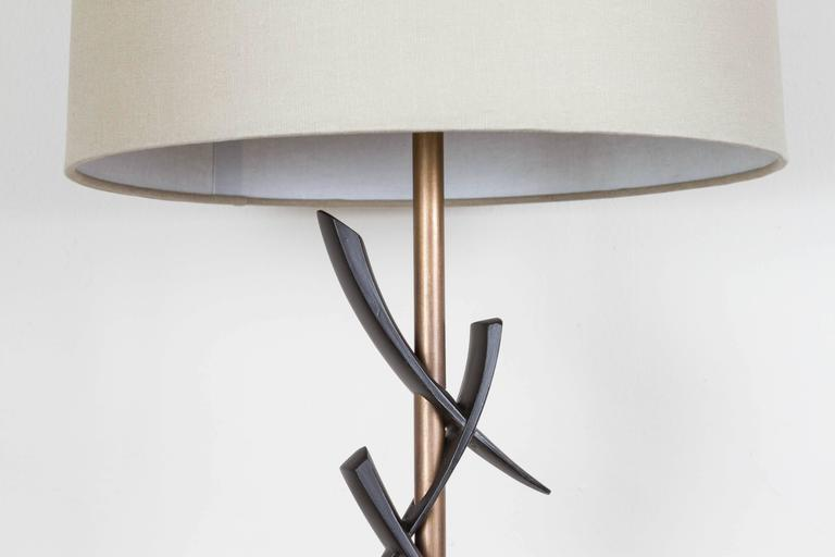 American Pair of Japanese Style Table Lamps For Sale