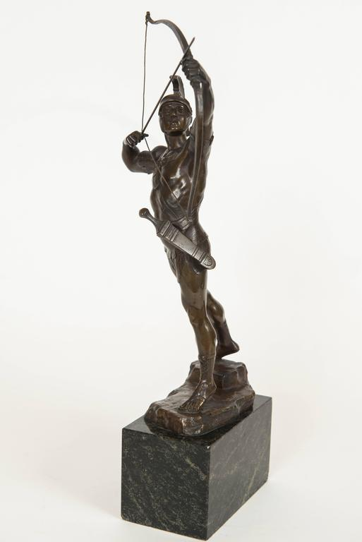 Classical Bronze Figure of a Trojan Archer by PH. E. Hamburger, circa 1910 4