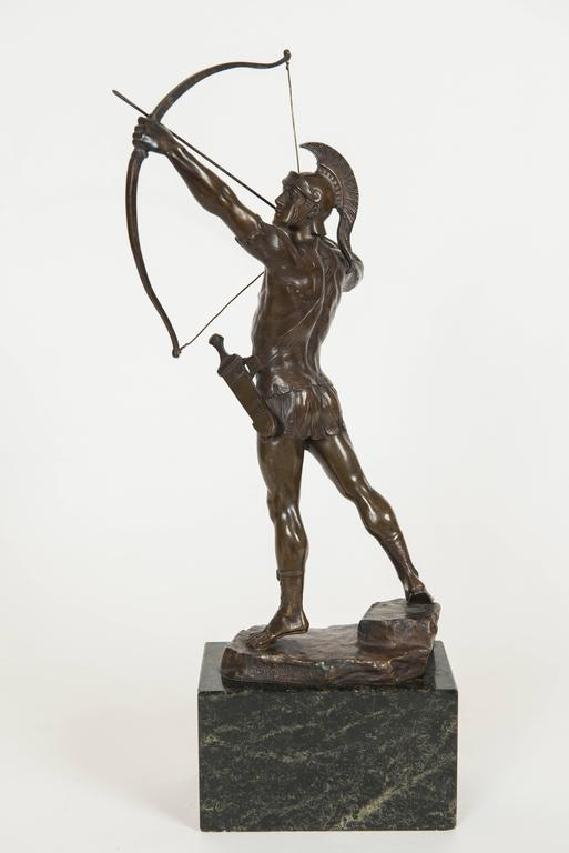 Classical Bronze Figure of a Trojan Archer by PH. E. Hamburger, circa 1910 5
