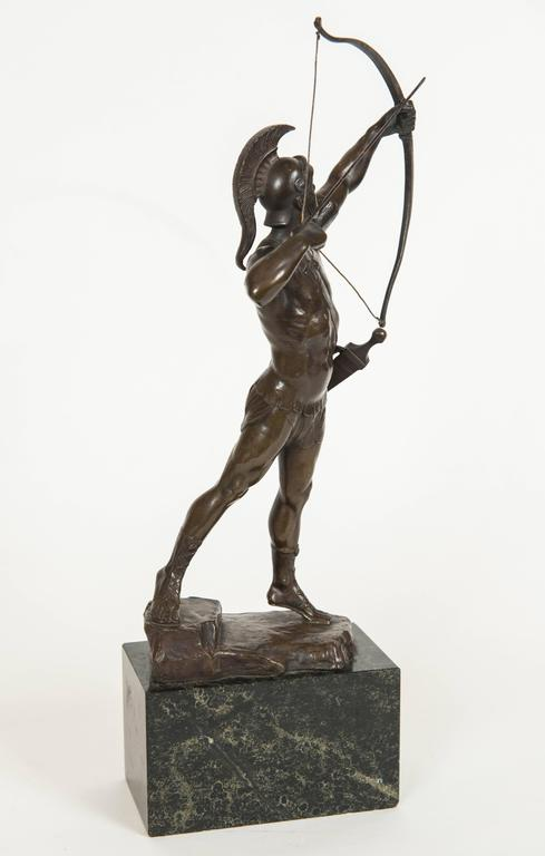 Classical Bronze Figure of a Trojan Archer by PH. E. Hamburger, circa 1910 6
