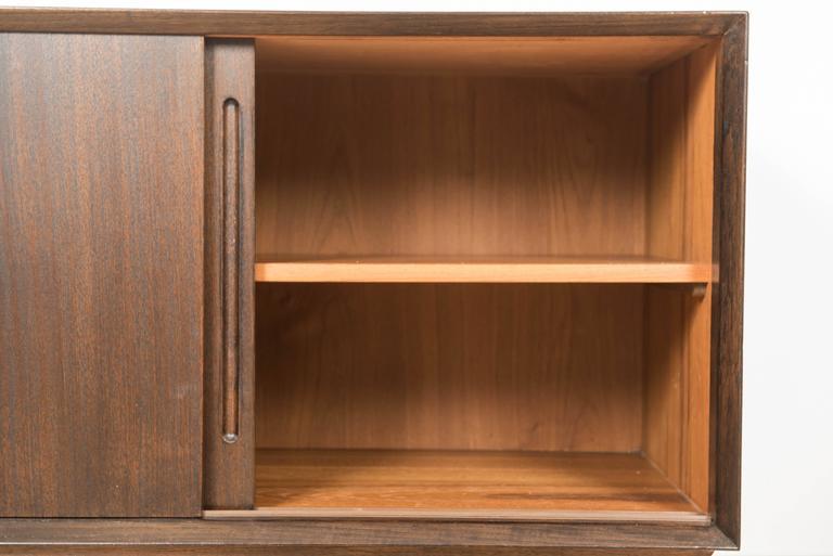 Veneer Pair of Danish Mid-Century Teak Cabinets For Sale