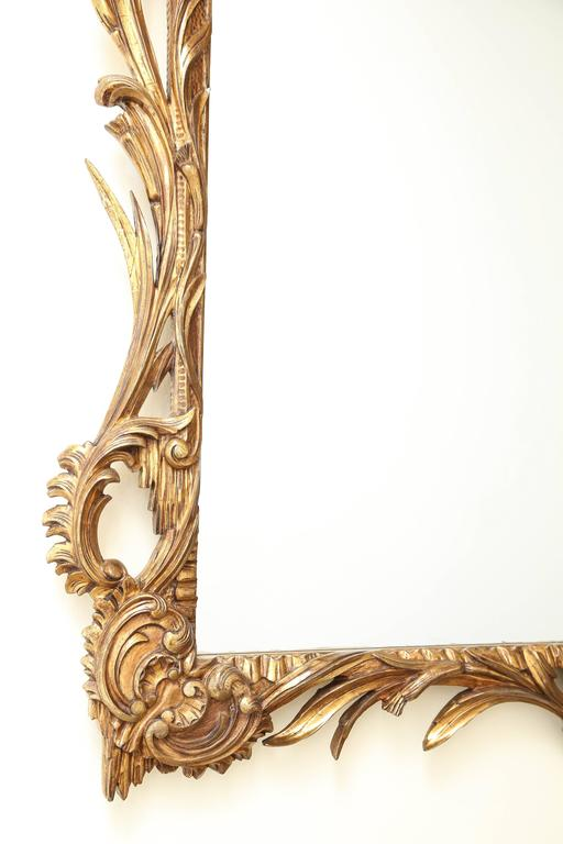 Silvered George III Giltwood Mirror For Sale