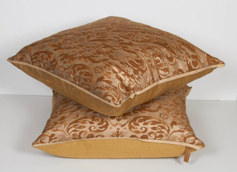 A Pair of Fortuny Fabric Cushions in the Sevigne Pattern  2