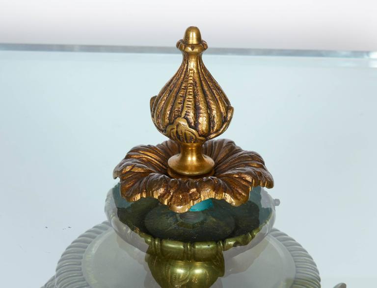 Pair of Renaissance Revival Gilt Bronze Urn Form Tables 3