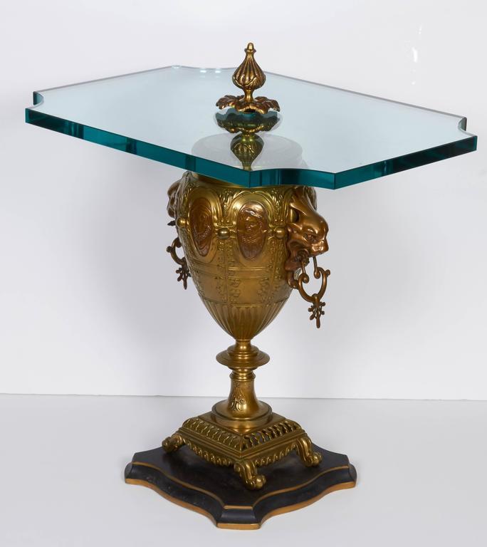 Pair of Renaissance Revival Gilt Bronze Urn Form Tables 4
