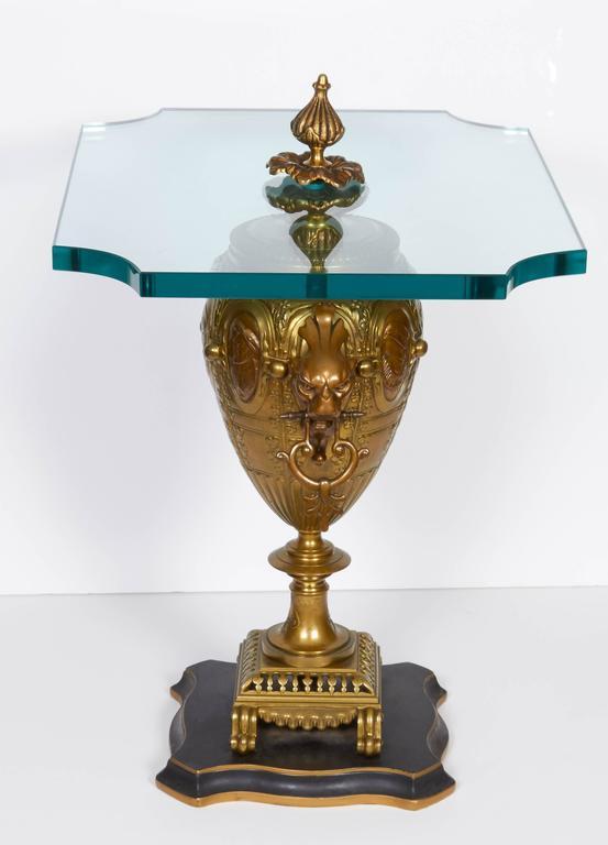 Pair of Renaissance Revival Gilt Bronze Urn Form Tables 7