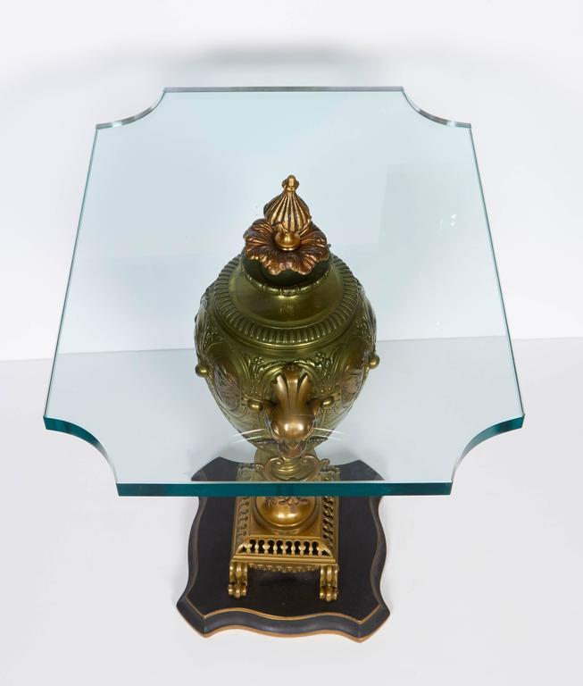 Pair of Renaissance Revival Gilt Bronze Urn Form Tables 8