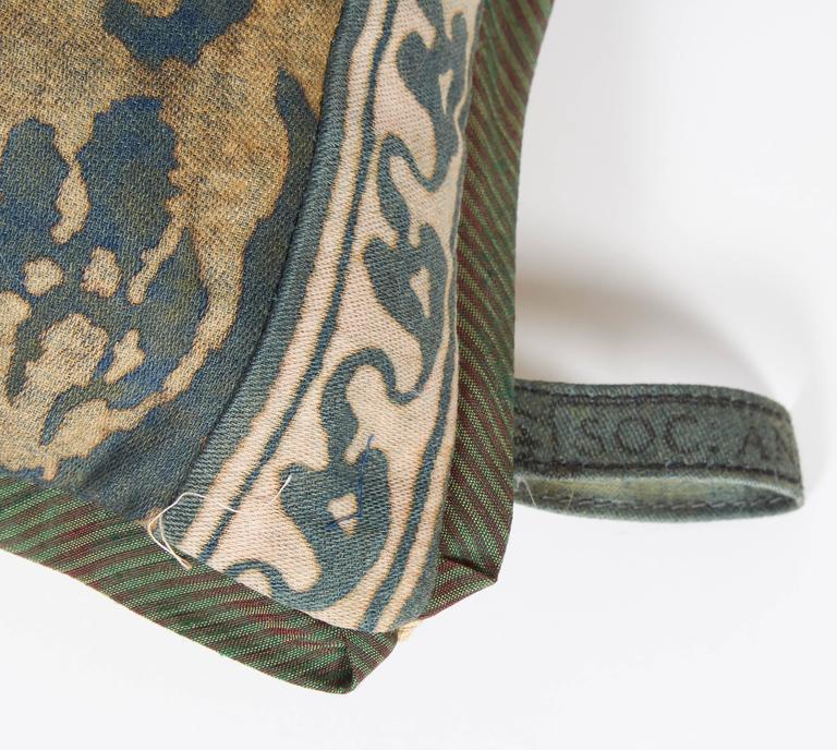 A Fortuny Fabric Lumbar Cushion in the Corone Pattern 6