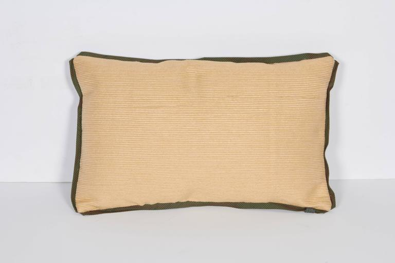 A Fortuny Fabric Lumbar Cushion in the Corone Pattern 7