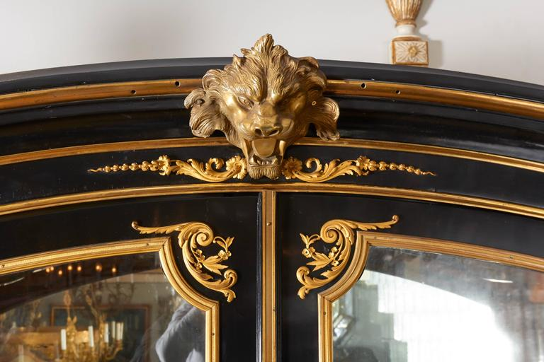 French Louis XV Style Ormolu Mounted Ebonized Two-Door Bibliotheque 9