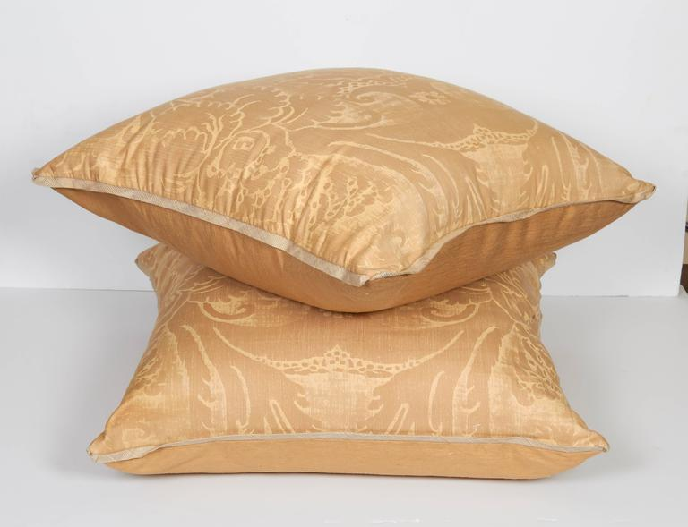 A Pair of Fortuny Fabric Cushions in the Glicine Pattern 2