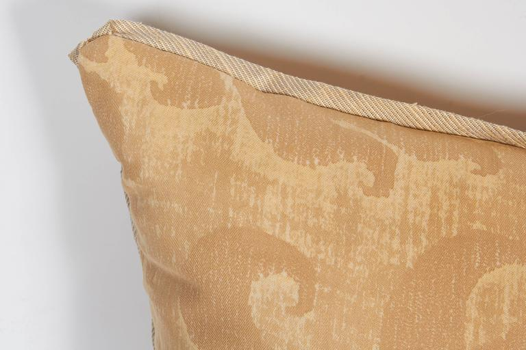 A Pair of Fortuny Fabric Cushions in the Glicine Pattern 5