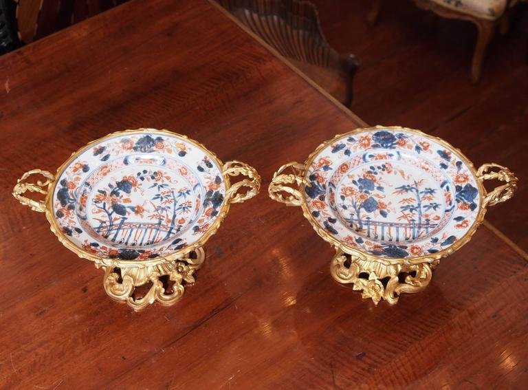 Pair of Bronze-Mounted Imari Plates 2
