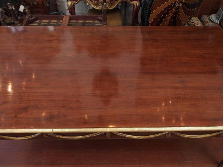 Italian Louis XVI Mahogany and Parcel-Gilt Dining Table 2