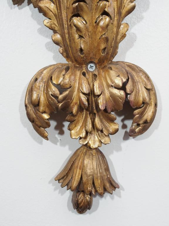 Carved Wood Wall Sconces For Sale 1