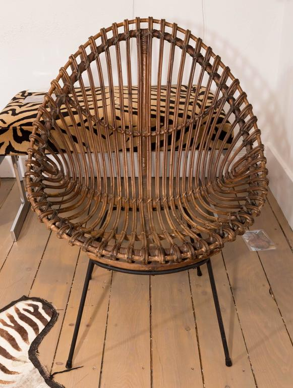 Pair of Bamboo Chairs in the Style of Franco Albini In Excellent Condition For Sale In Bridgehampton, NY