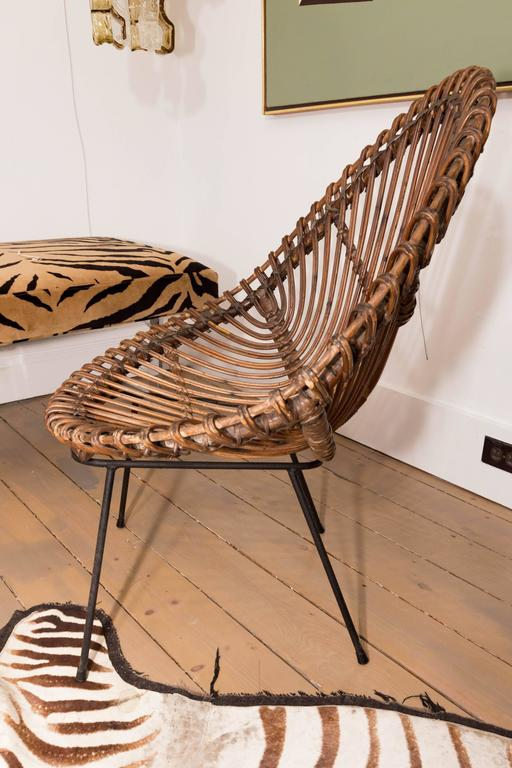 20th Century Pair of Bamboo Chairs in the Style of Franco Albini For Sale