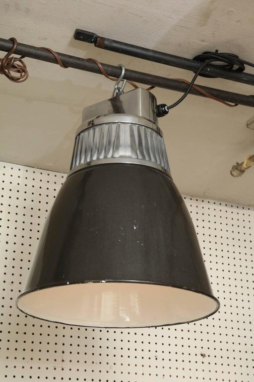 Czech Down-Lighter Pendant Light In Excellent Condition For Sale In New York, NY