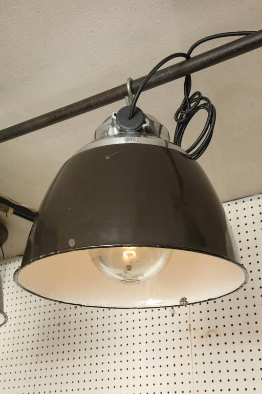 Czech Factory Light In Excellent Condition For Sale In New York, NY