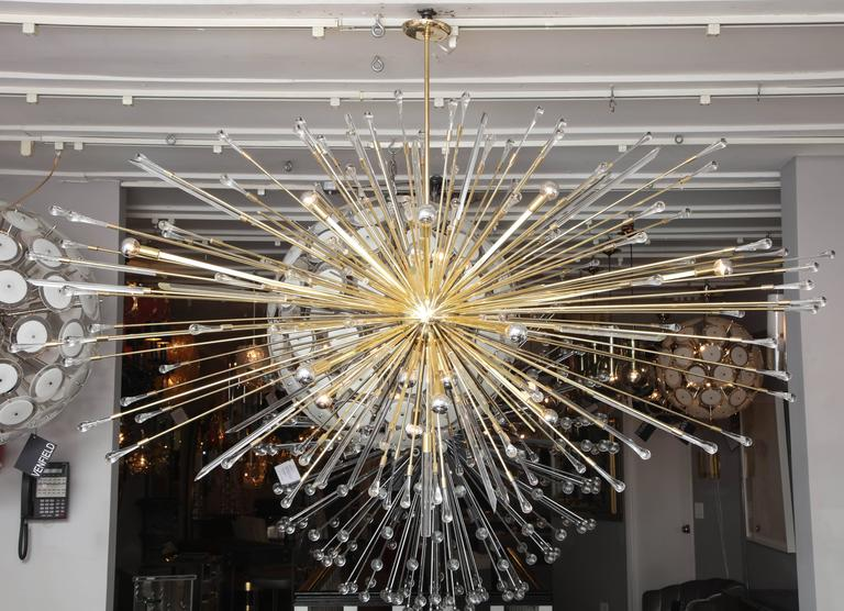 Custom giant tear drop sputnik chandelier.