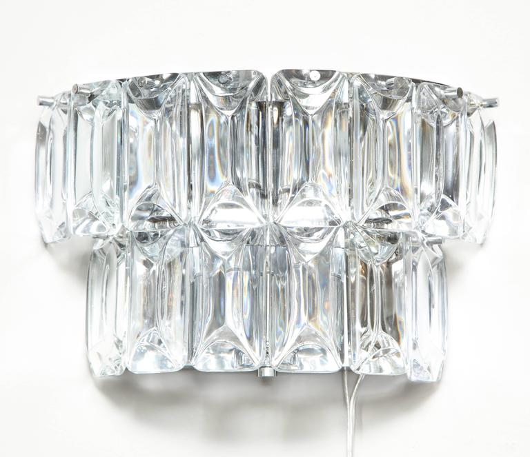 Glamorous 1970s Austrian Crystal Sconces For Sale 3