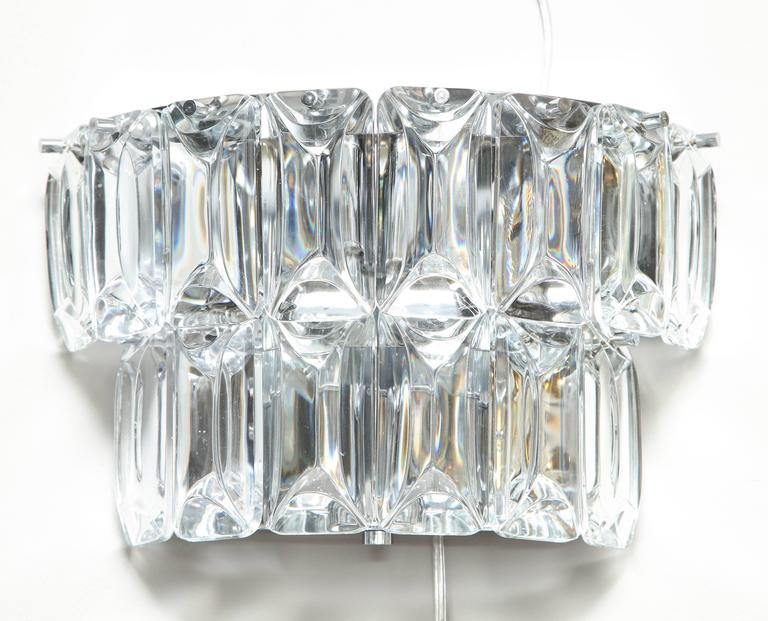Glamorous 1970s Austrian Crystal Sconces For Sale 5