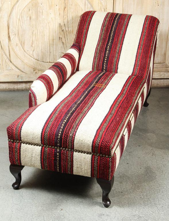 1930 39 s chaise lounge in east african and turkish wool at for Chaise 1930