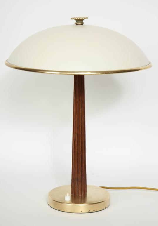 Swedish modern brass painted and beech table lamp at 1stdibs for Lamp table beech