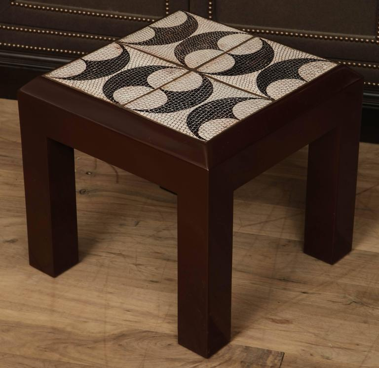 Tile Side Table For Sale 2
