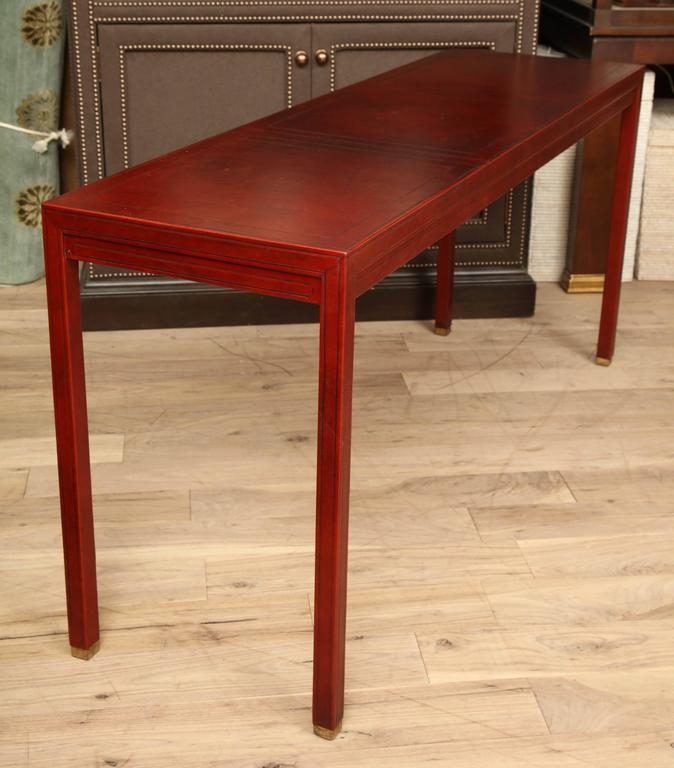 Leather Clad Console Table 6