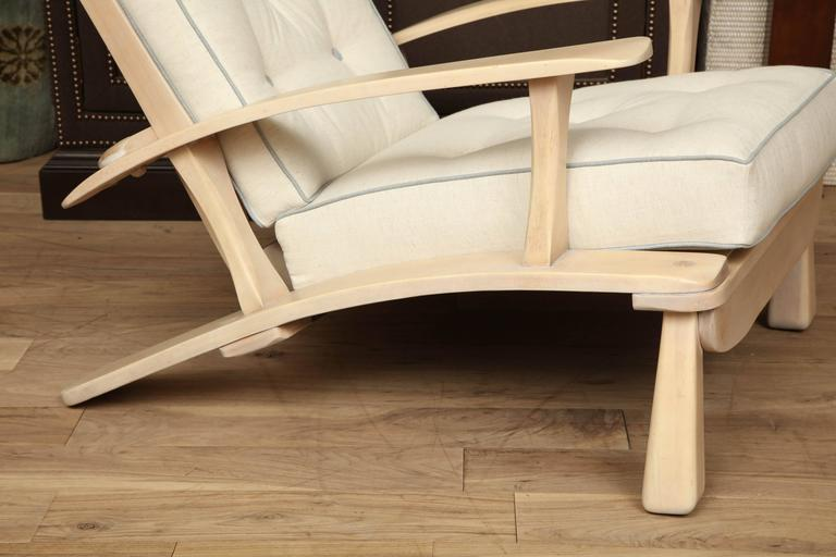 Adjustable Oak Lounge Chair 3