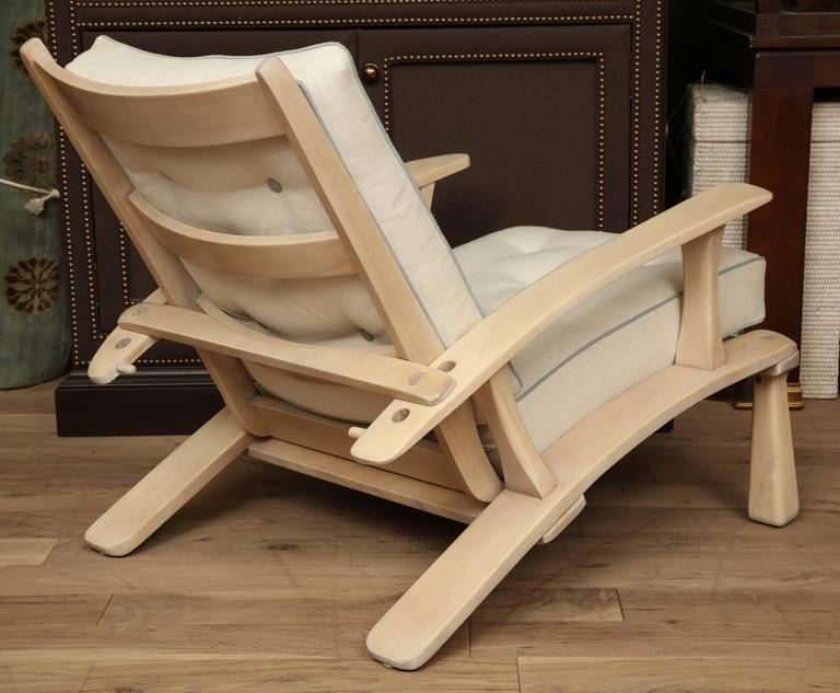 Adjustable Oak Lounge Chair For Sale 2