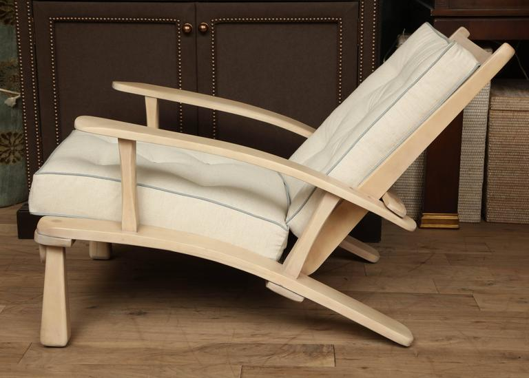 Adjustable Oak Lounge Chair For Sale 5