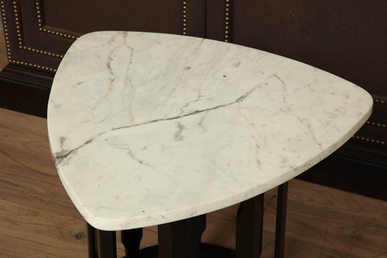 Marble Side Table In Excellent Condition For Sale In New York, NY