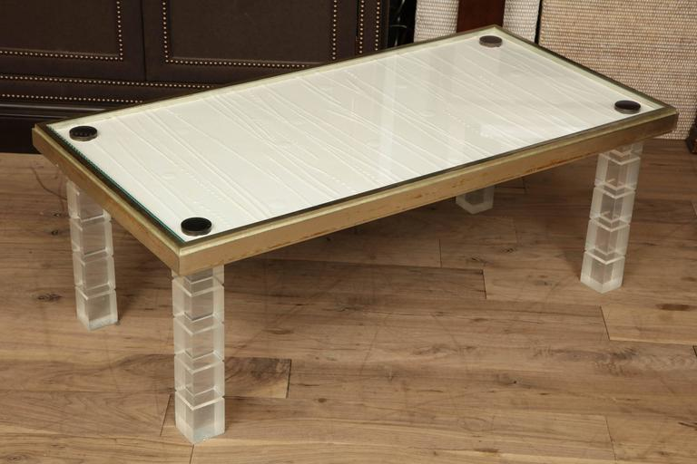 Lucite and Gessowork Coffee Table 2