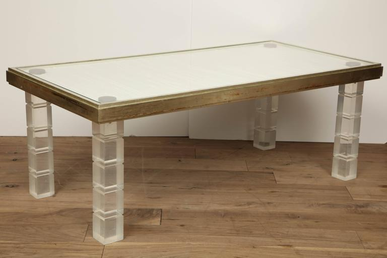 Lucite and Gessowork Coffee Table 5