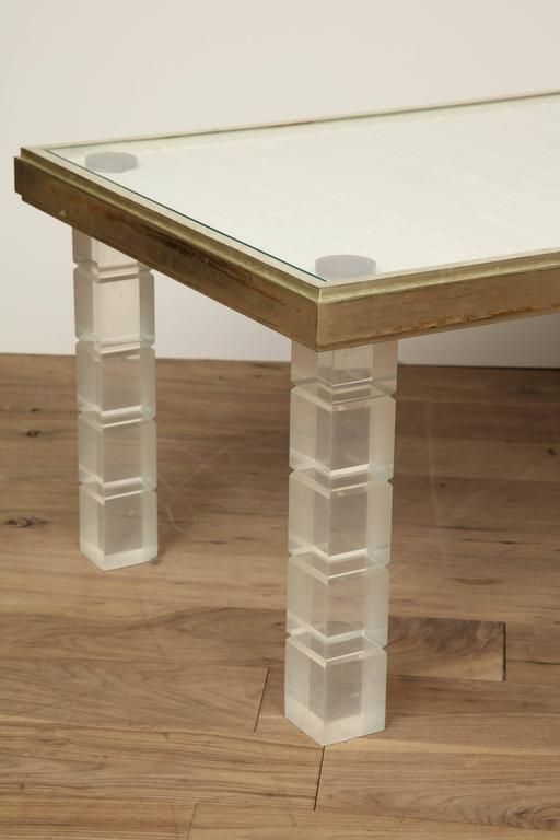Lucite and Gessowork Coffee Table 6