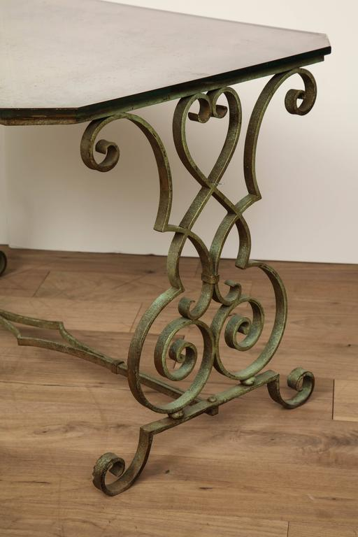 Verdigris Side Table In Good Condition For Sale In New York, NY