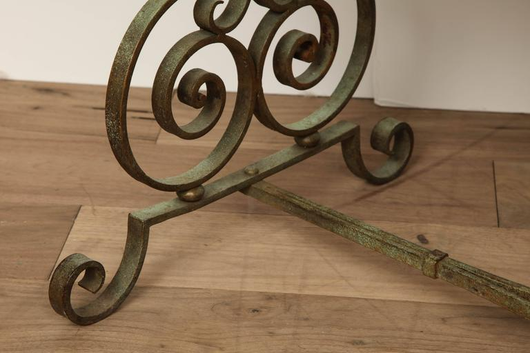 Verdigris Side Table For Sale 1