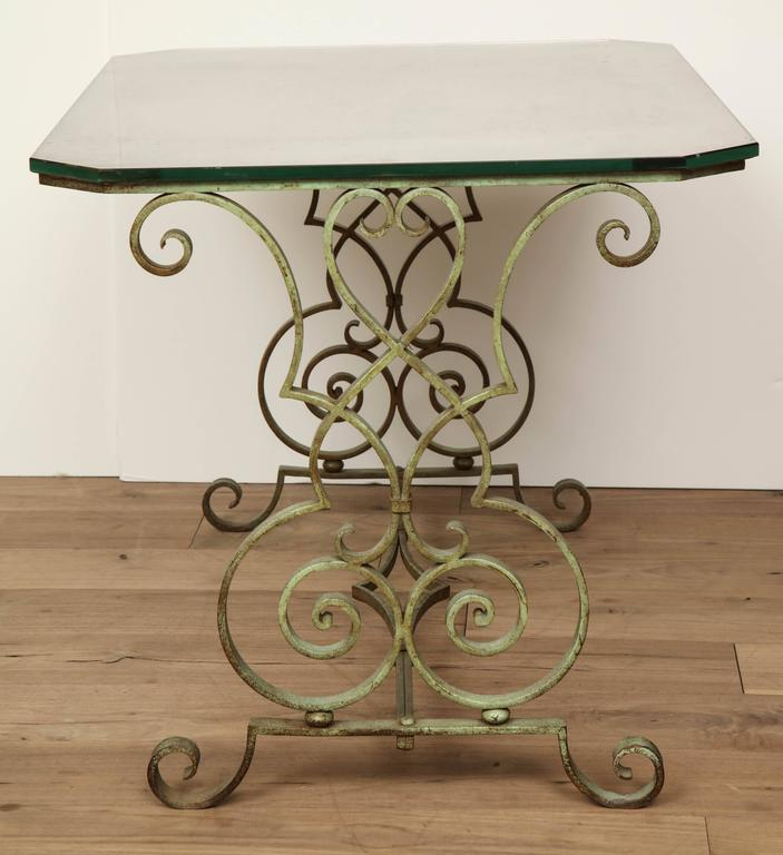Verdigris Side Table For Sale 2