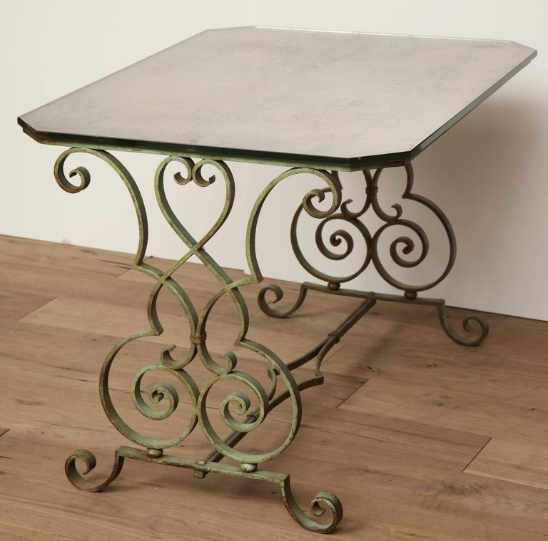 Verdigris Side Table For Sale 4