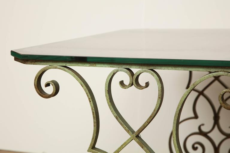 Verdigris Side Table For Sale 5