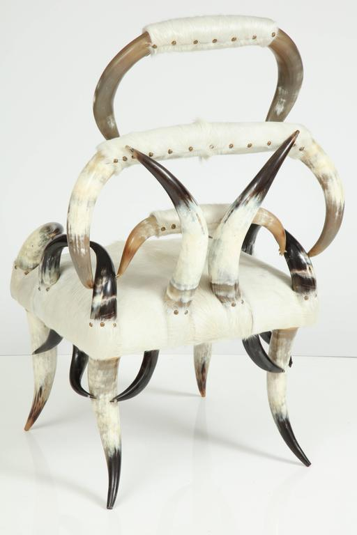 Sculptural American Horn Chair For Sale 3